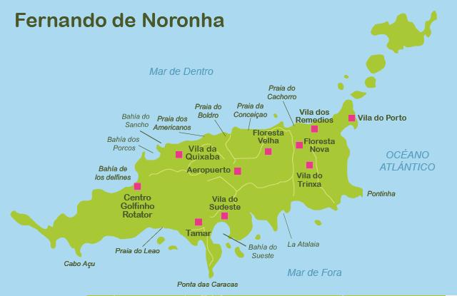 Maps Fernando de Noronha travel map   Maps Fernando de ...