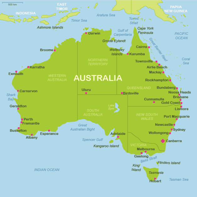 Australia travel maps – Travel Maps Australia