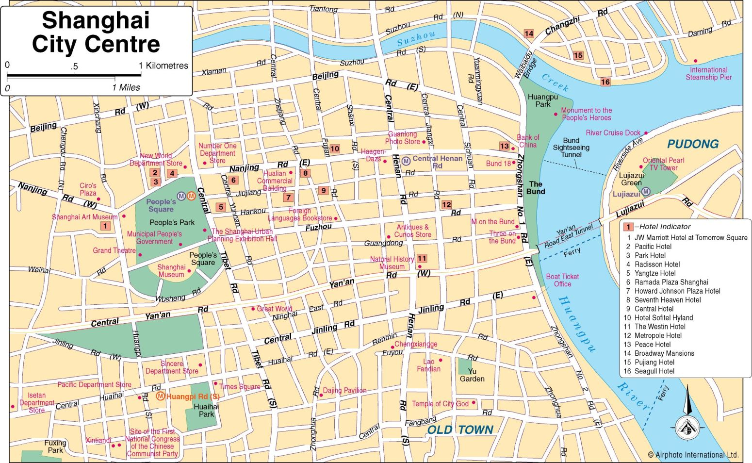 Shanghai travel map – Odyssey Travel Map